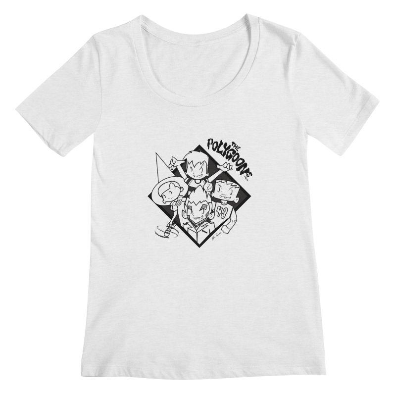 The Polygoons (Group) Women's Regular Scoop Neck by The Polygoons' Shop