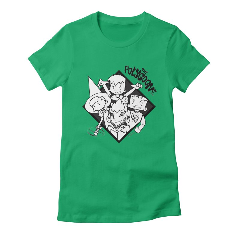 The Polygoons (Group) Women's Fitted T-Shirt by The Polygoons' Shop