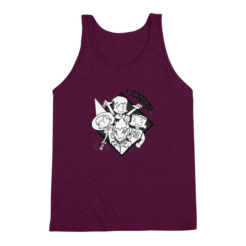 The Polygoons (Group) Men's Triblend Tank by The Polygoons' Shop
