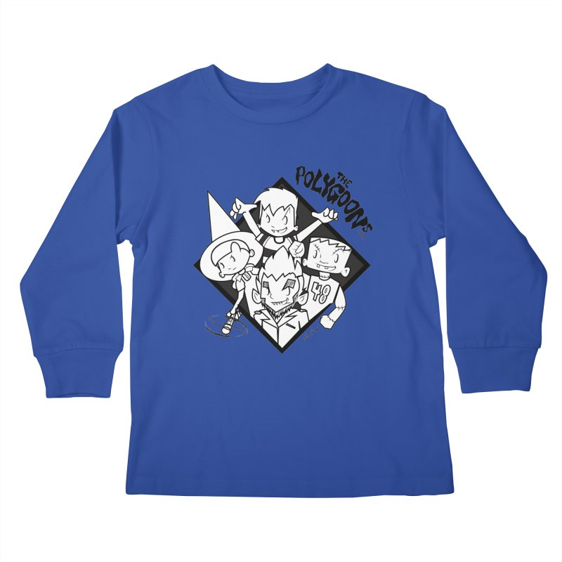 The Polygoons (Group) Kids Longsleeve T-Shirt by The Polygoons' Shop