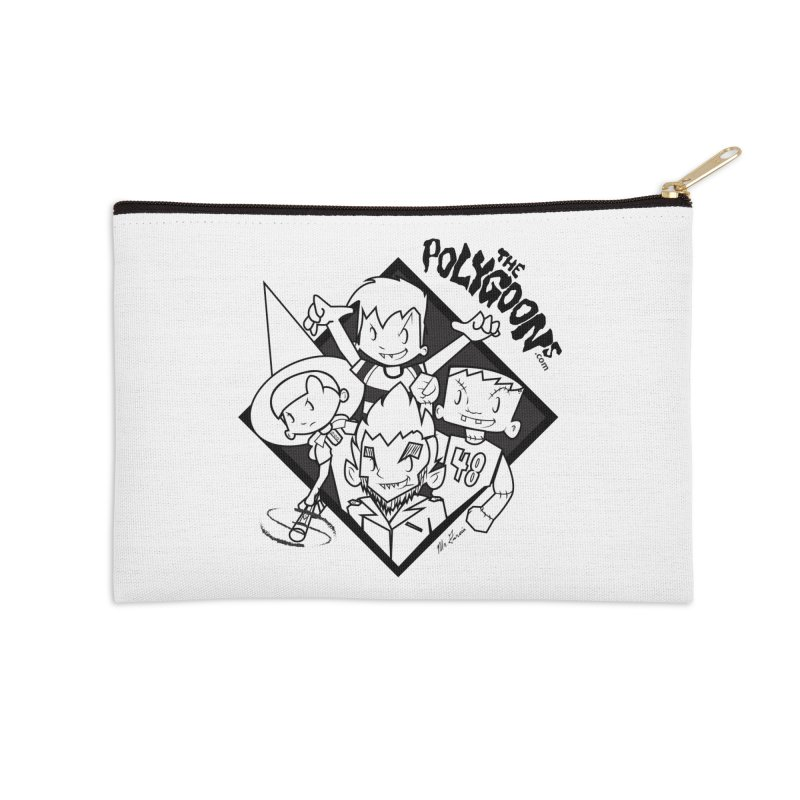 The Polygoons (Group) in Zip Pouch by The Polygoons' Shop