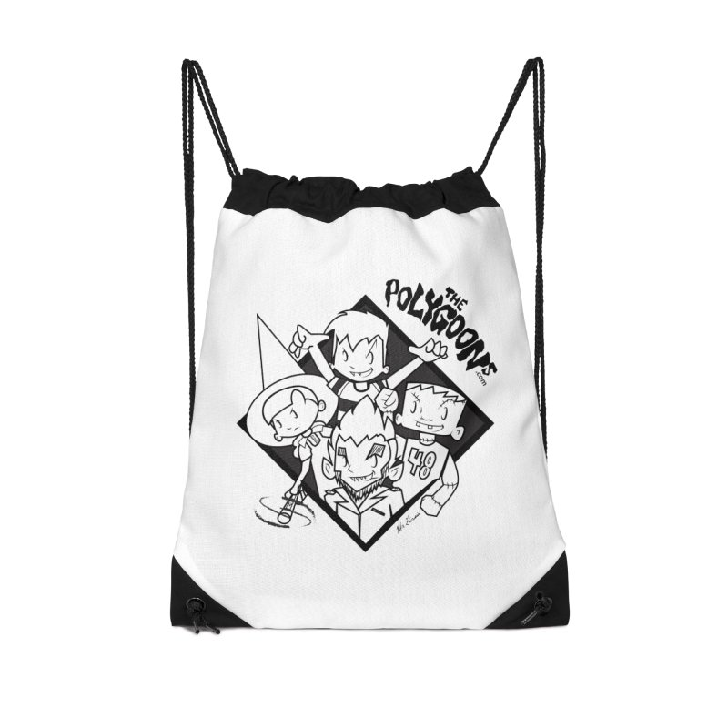The Polygoons (Group) Accessories Drawstring Bag Bag by The Polygoons' Shop