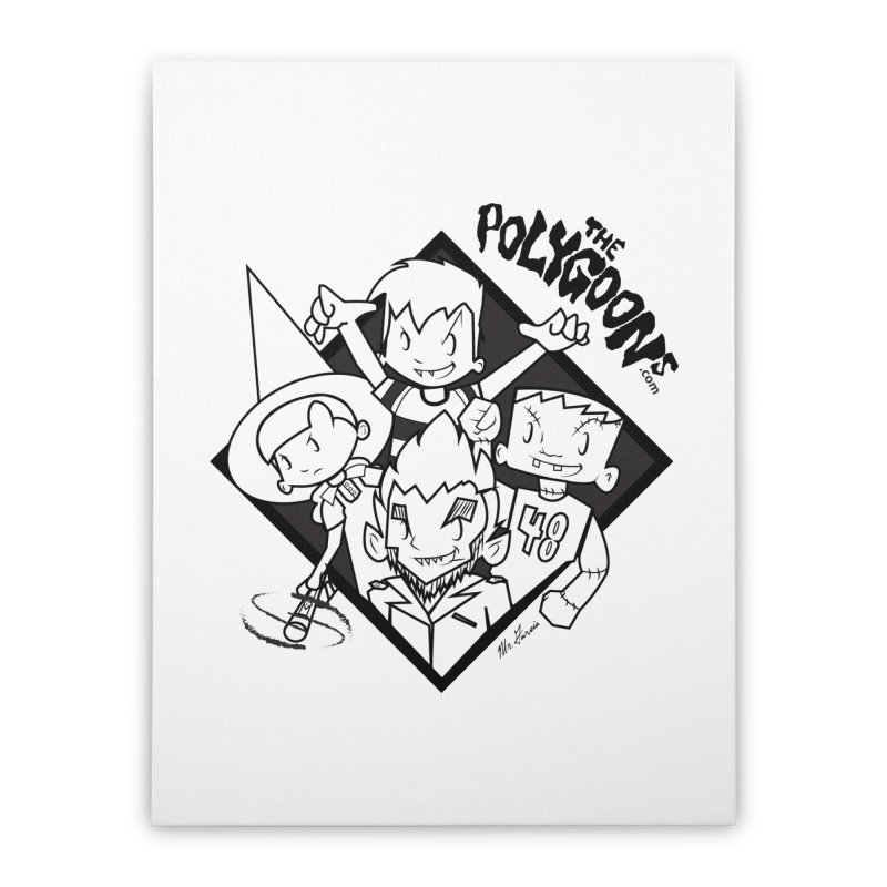 The Polygoons (Group) Home Stretched Canvas by The Polygoons' Shop