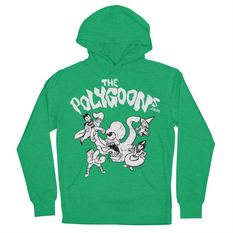 Polygoonsvs Mutoid (white letters) Women's French Terry Pullover Hoody by The Polygoons' Shop