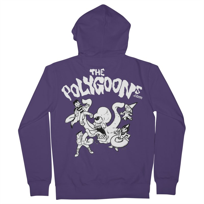 Polygoonsvs Mutoid (white letters) Women's French Terry Zip-Up Hoody by The Polygoons' Shop