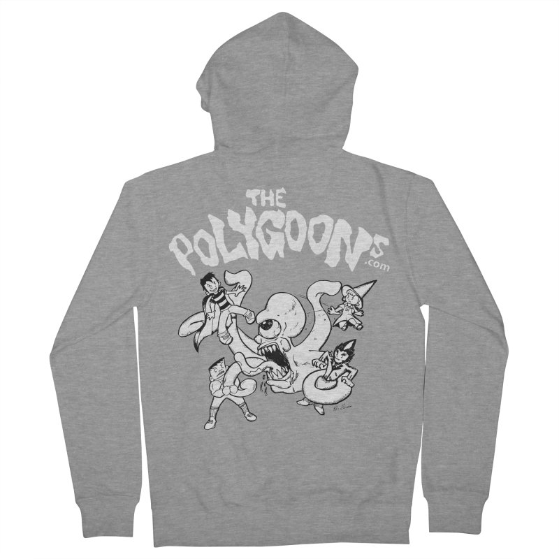 Polygoonsvs Mutoid (white letters) Men's French Terry Zip-Up Hoody by The Polygoons' Shop