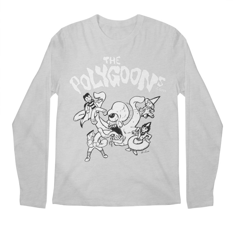 Polygoonsvs Mutoid (white letters) Men's Regular Longsleeve T-Shirt by The Polygoons' Shop