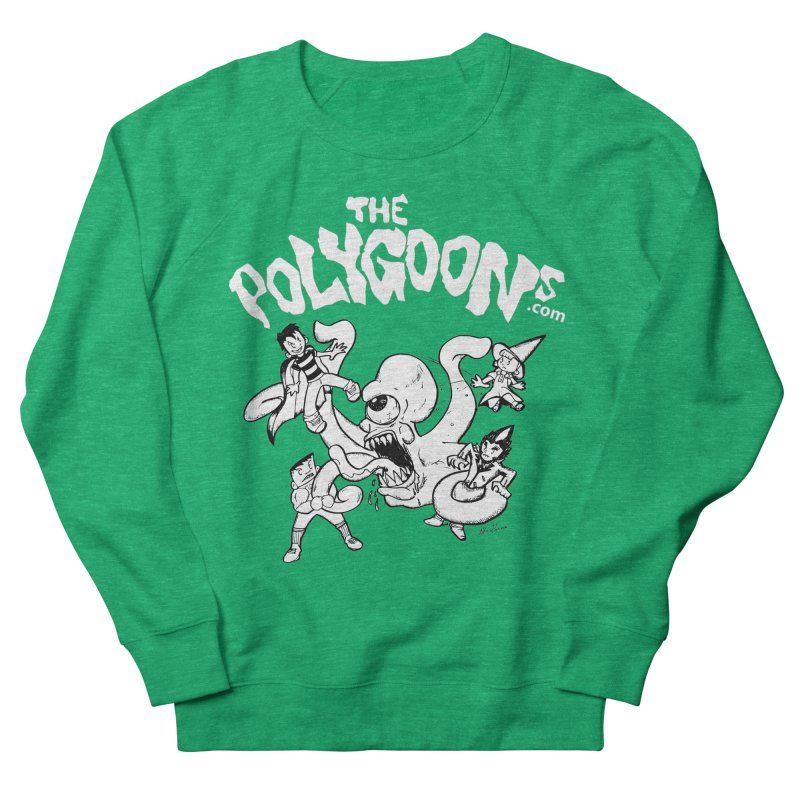 Polygoonsvs Mutoid (white letters) Men's French Terry Sweatshirt by The Polygoons' Shop