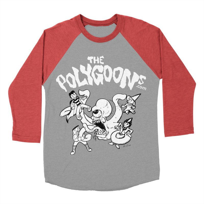 Polygoonsvs Mutoid (white letters) Women's Baseball Triblend Longsleeve T-Shirt by The Polygoons' Shop