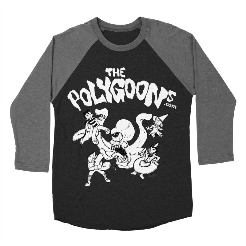 Polygoonsvs Mutoid (white letters) Men's Baseball Triblend Longsleeve T-Shirt by The Polygoons' Shop