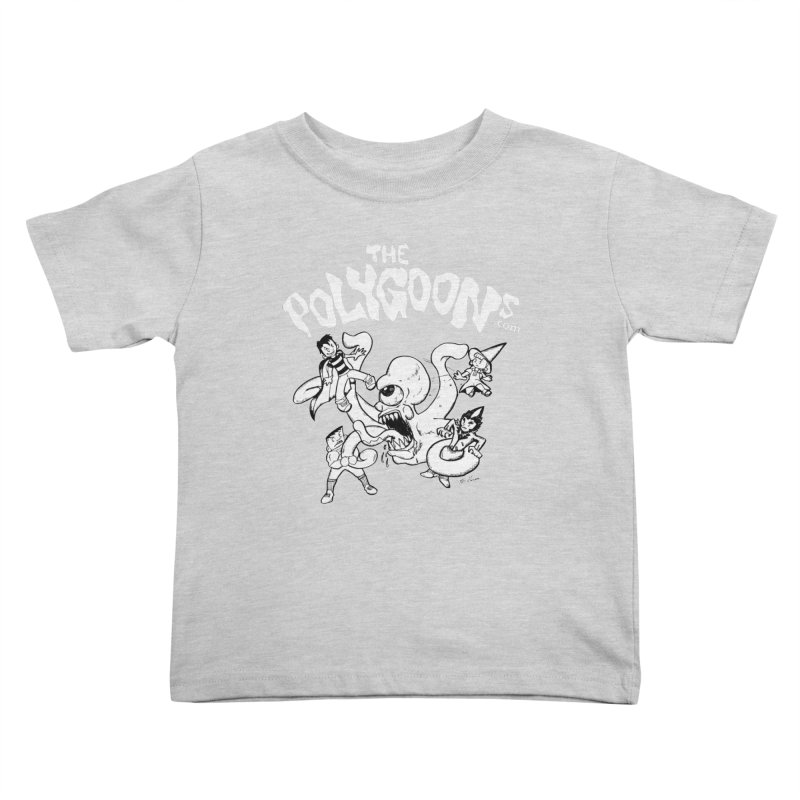 Polygoonsvs Mutoid (white letters) Kids Toddler T-Shirt by The Polygoons' Shop
