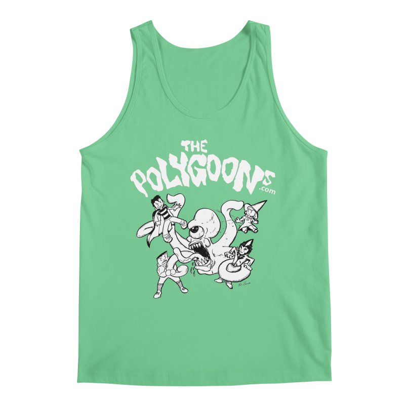 Polygoonsvs Mutoid (white letters) Men's Regular Tank by The Polygoons' Shop