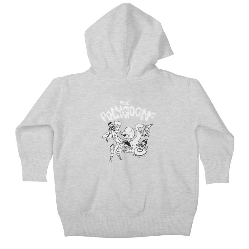 Polygoonsvs Mutoid (white letters) Kids Baby Zip-Up Hoody by The Polygoons' Shop