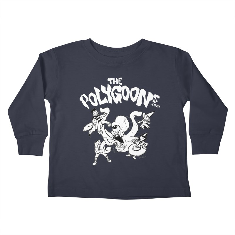 Polygoonsvs Mutoid (white letters) Kids Toddler Longsleeve T-Shirt by The Polygoons' Shop