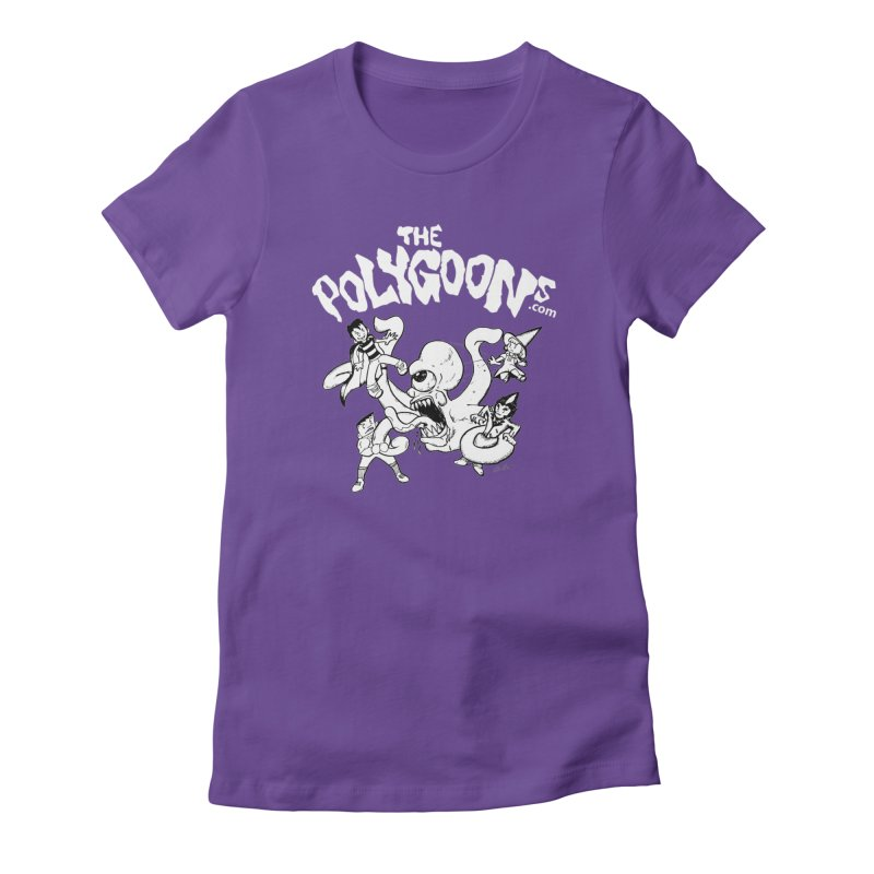 Polygoonsvs Mutoid (white letters) in Women's Fitted T-Shirt Purple by The Polygoons' Shop