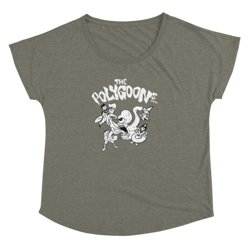 Polygoonsvs Mutoid (white letters) Women's Dolman Scoop Neck by The Polygoons' Shop