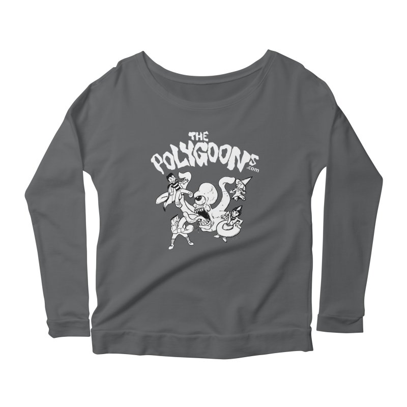 Polygoonsvs Mutoid (white letters) Women's Scoop Neck Longsleeve T-Shirt by The Polygoons' Shop