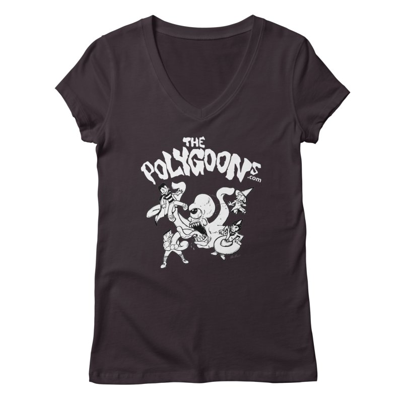 Polygoonsvs Mutoid (white letters) Women's Regular V-Neck by The Polygoons' Shop