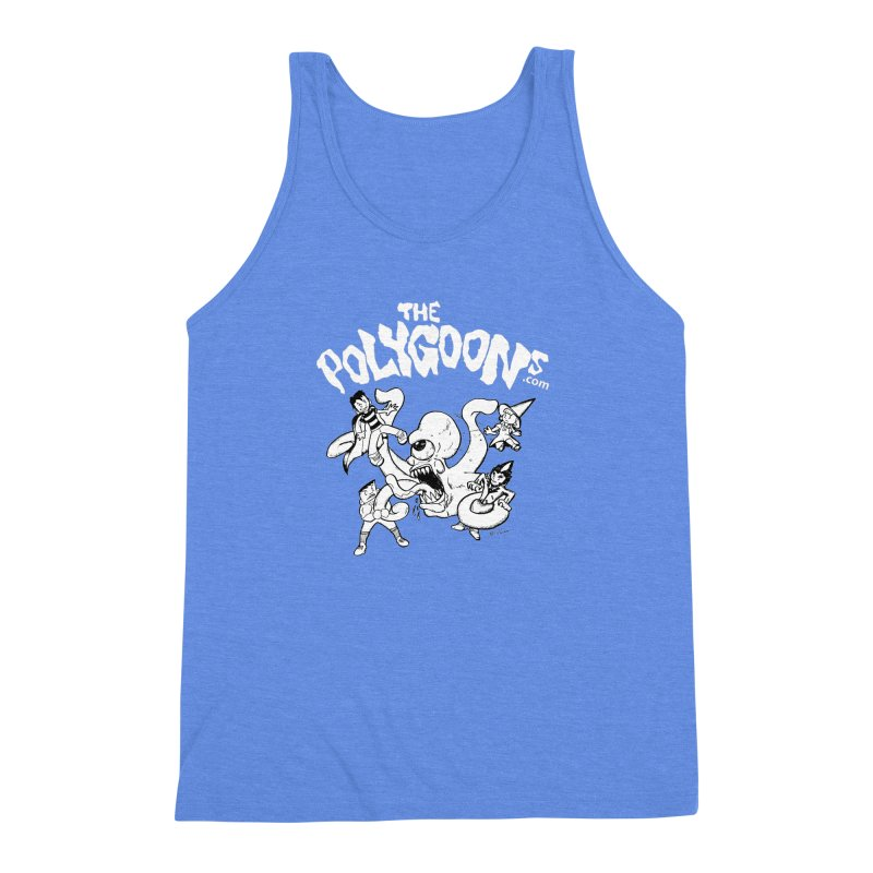 Polygoonsvs Mutoid (white letters) Men's Triblend Tank by The Polygoons' Shop