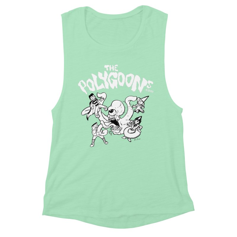 Polygoonsvs Mutoid (white letters) Women's Muscle Tank by The Polygoons' Shop