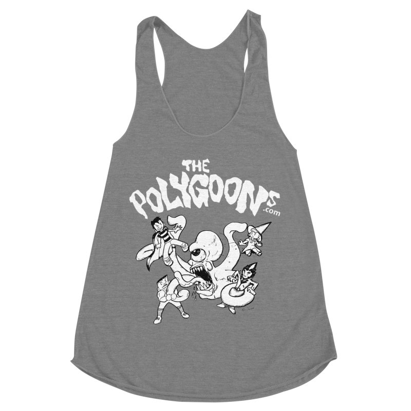 Polygoonsvs Mutoid (white letters) Women's Racerback Triblend Tank by The Polygoons' Shop