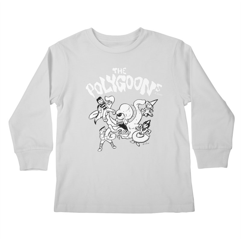 Polygoonsvs Mutoid (white letters) Kids Longsleeve T-Shirt by The Polygoons' Shop