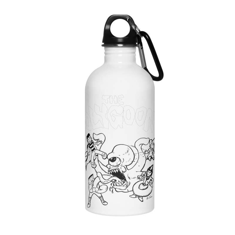 Polygoonsvs Mutoid (white letters) Accessories Water Bottle by The Polygoons' Shop
