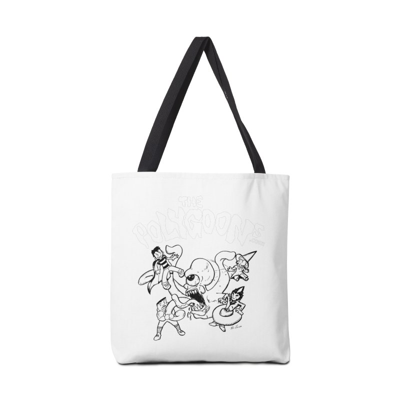 Polygoonsvs Mutoid (white letters) Accessories Tote Bag Bag by The Polygoons' Shop