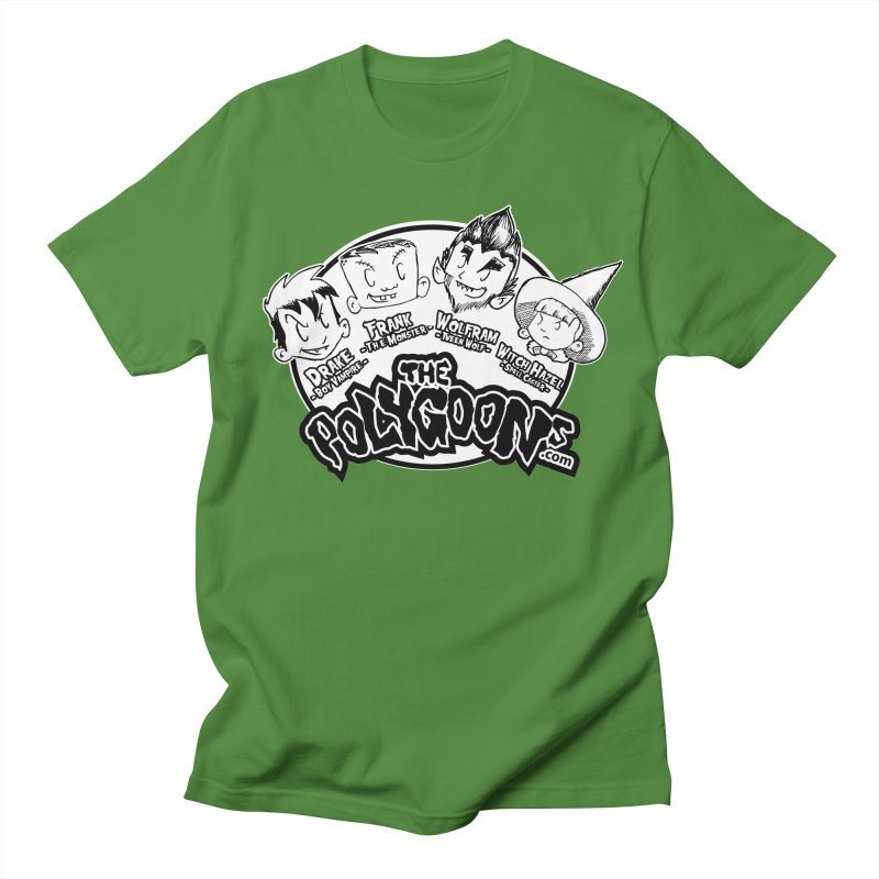 The Polygoons (Heads) in Men's Regular T-Shirt Clover by The Polygoons' Shop