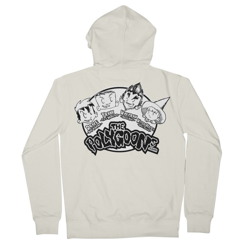 The Polygoons (Heads) Women's French Terry Zip-Up Hoody by The Polygoons' Shop