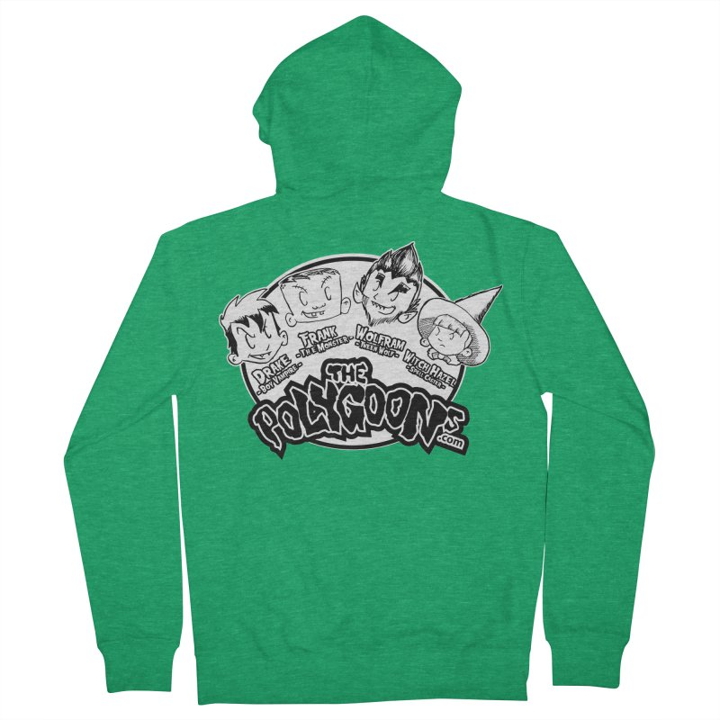 The Polygoons (Heads) Men's French Terry Zip-Up Hoody by The Polygoons' Shop