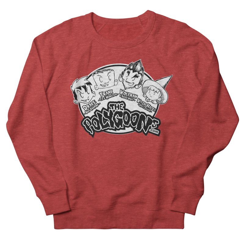The Polygoons (Heads) Men's French Terry Sweatshirt by The Polygoons' Shop