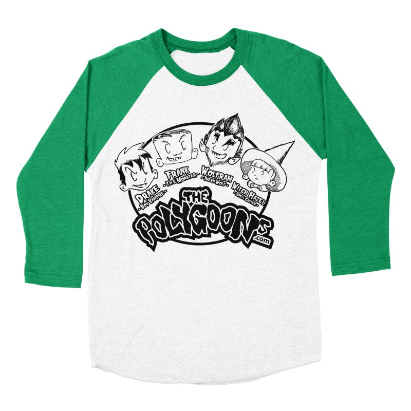 The Polygoons (Heads) Women's Baseball Triblend Longsleeve T-Shirt by The Polygoons' Shop