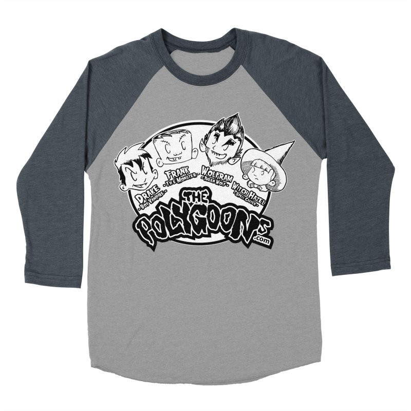 The Polygoons (Heads) Men's Baseball Triblend Longsleeve T-Shirt by The Polygoons' Shop