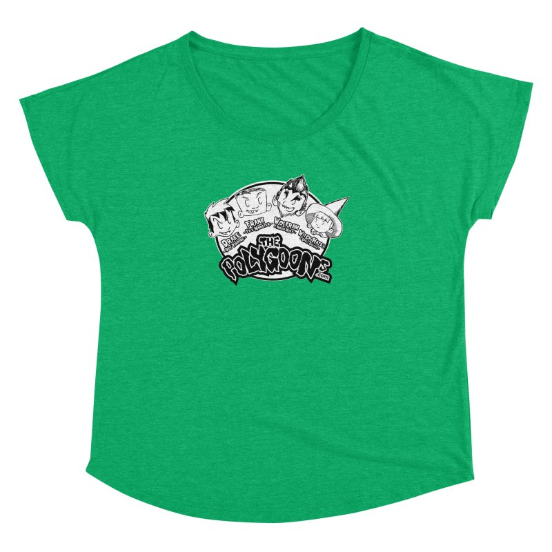 The Polygoons (Heads) Women's Dolman Scoop Neck by The Polygoons' Shop
