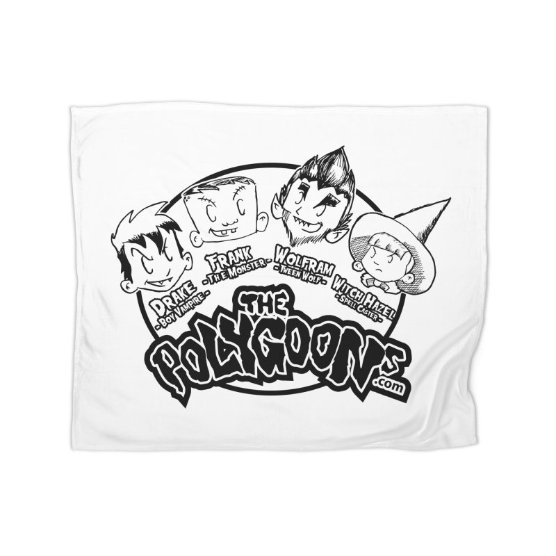 The Polygoons (Heads) Home Fleece Blanket Blanket by The Polygoons' Shop