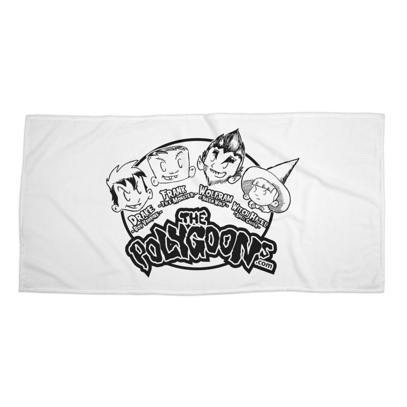 The Polygoons (Heads) Accessories Beach Towel by The Polygoons' Shop