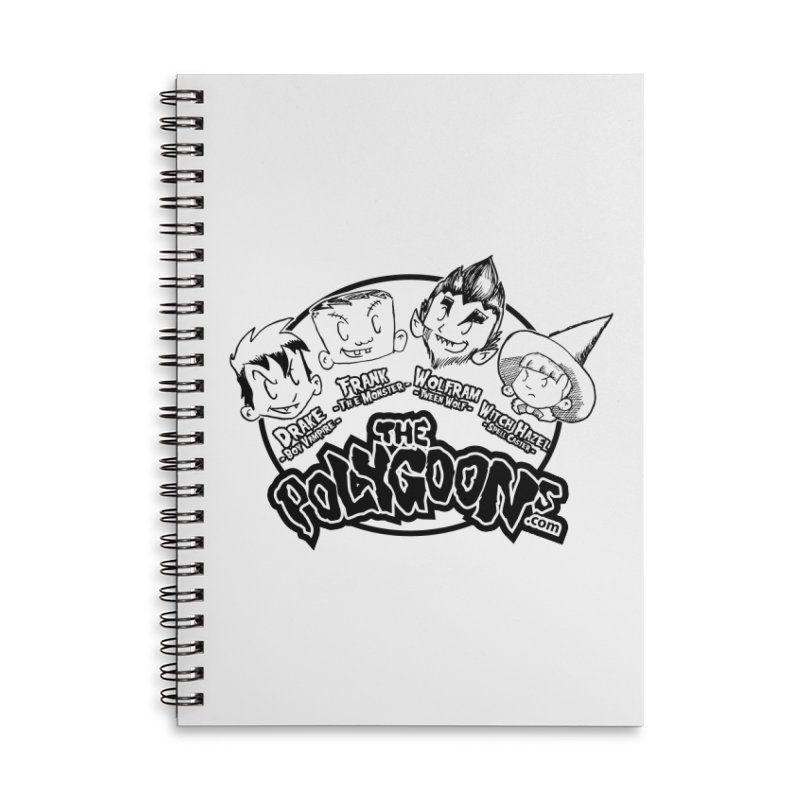 The Polygoons (Heads) Accessories Lined Spiral Notebook by The Polygoons' Shop