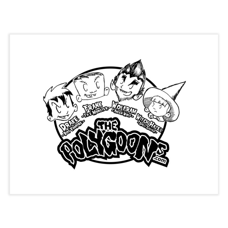 The Polygoons (Heads) Home Fine Art Print by The Polygoons' Shop