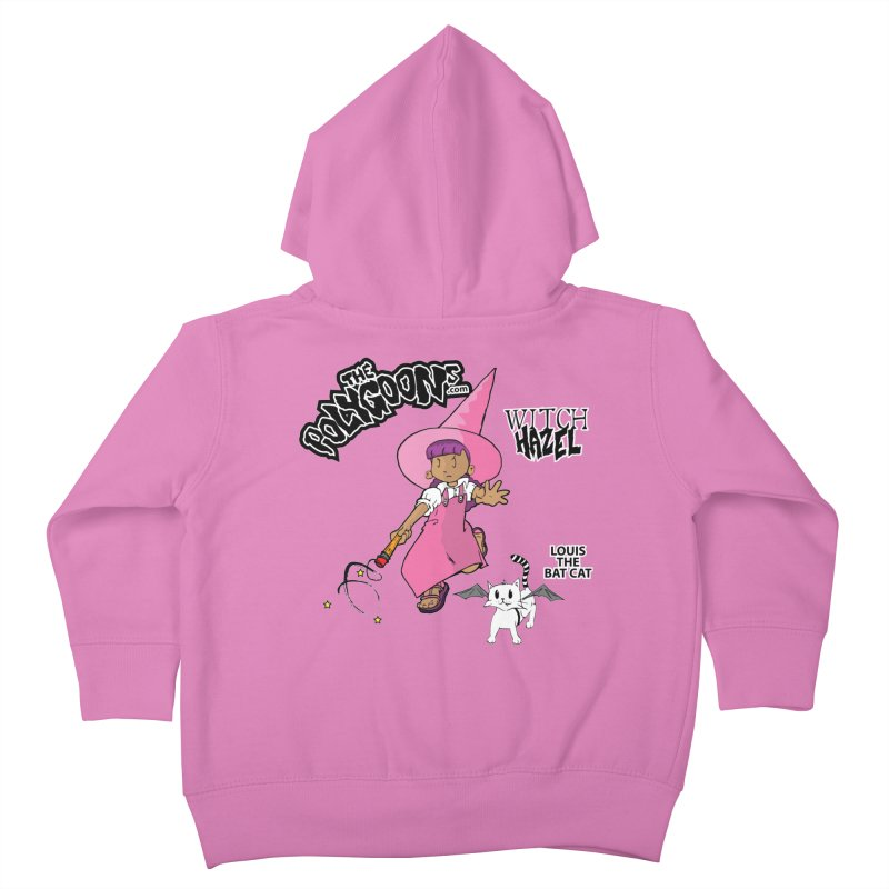 Witch Hazel + Louis (color) Kids Toddler Zip-Up Hoody by The Polygoons' Shop