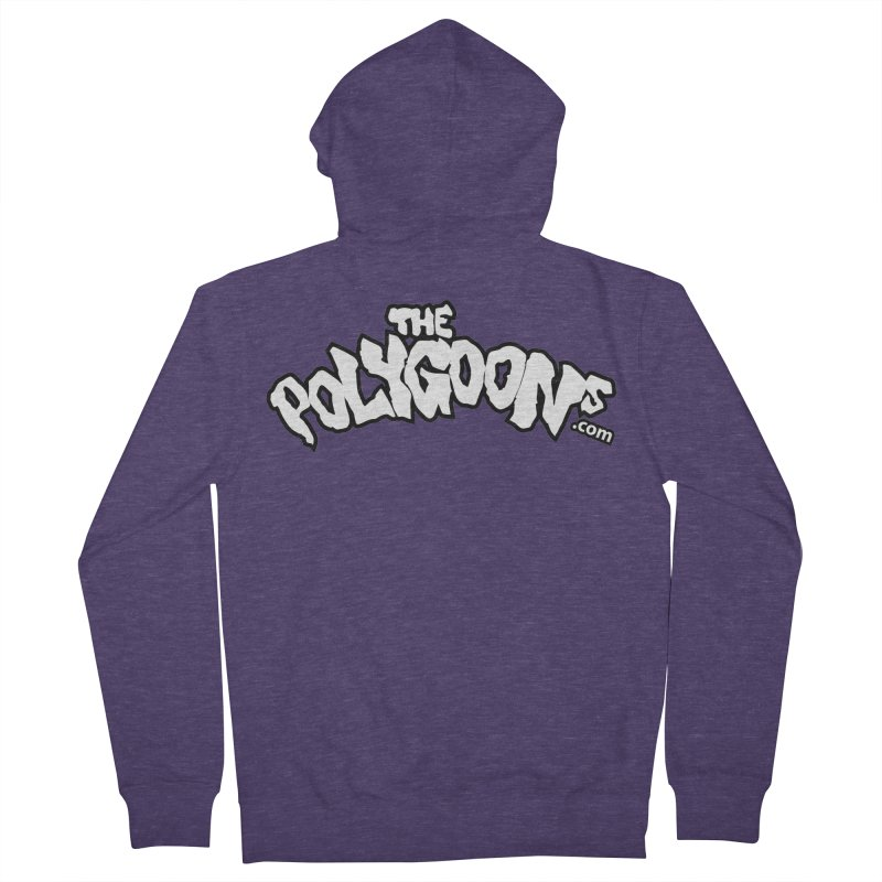 The Polygoons Logo BIG Men's French Terry Zip-Up Hoody by The Polygoons' Shop
