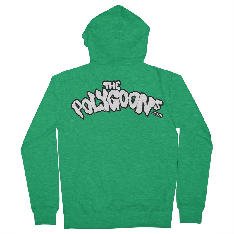 The Polygoons Logo BIG Men's Zip-Up Hoody by The Polygoons' Shop