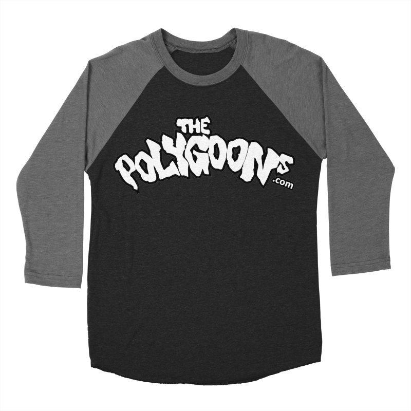The Polygoons Logo BIG Men's Baseball Triblend Longsleeve T-Shirt by The Polygoons' Shop