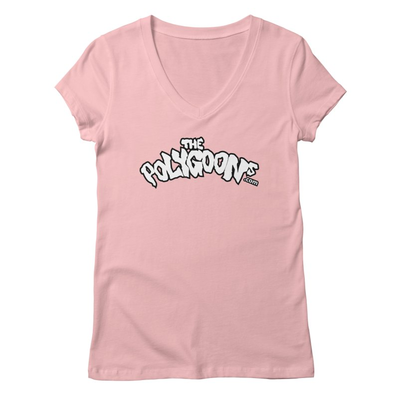 The Polygoons Logo BIG Women's Regular V-Neck by The Polygoons' Shop