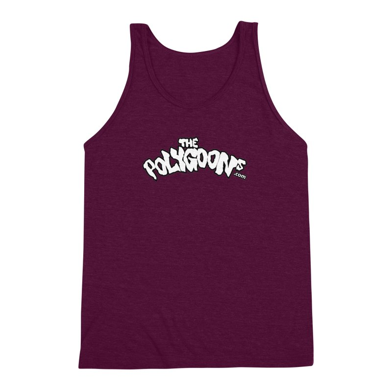 The Polygoons Logo BIG Men's Triblend Tank by The Polygoons' Shop