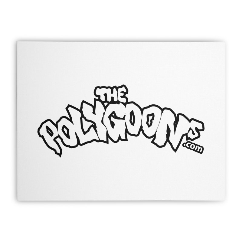 The Polygoons Logo BIG Home Stretched Canvas by The Polygoons' Shop