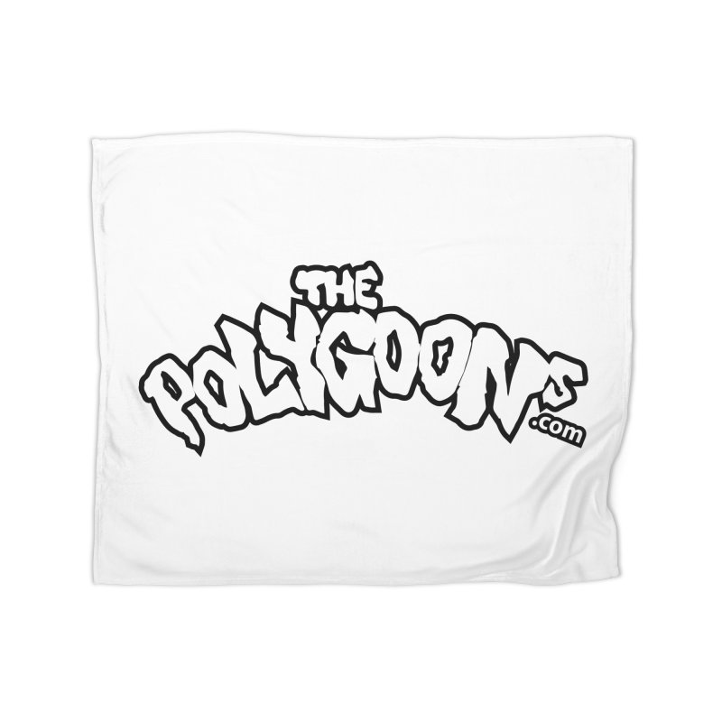 The Polygoons Logo BIG Home Fleece Blanket Blanket by The Polygoons' Shop