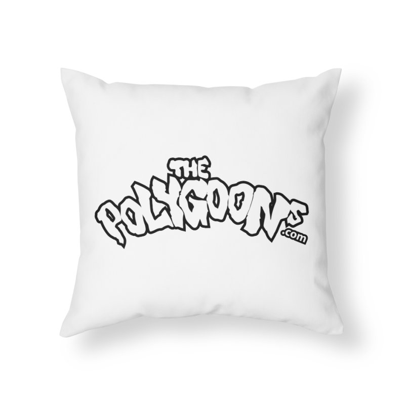 The Polygoons Logo BIG Home Throw Pillow by The Polygoons' Shop