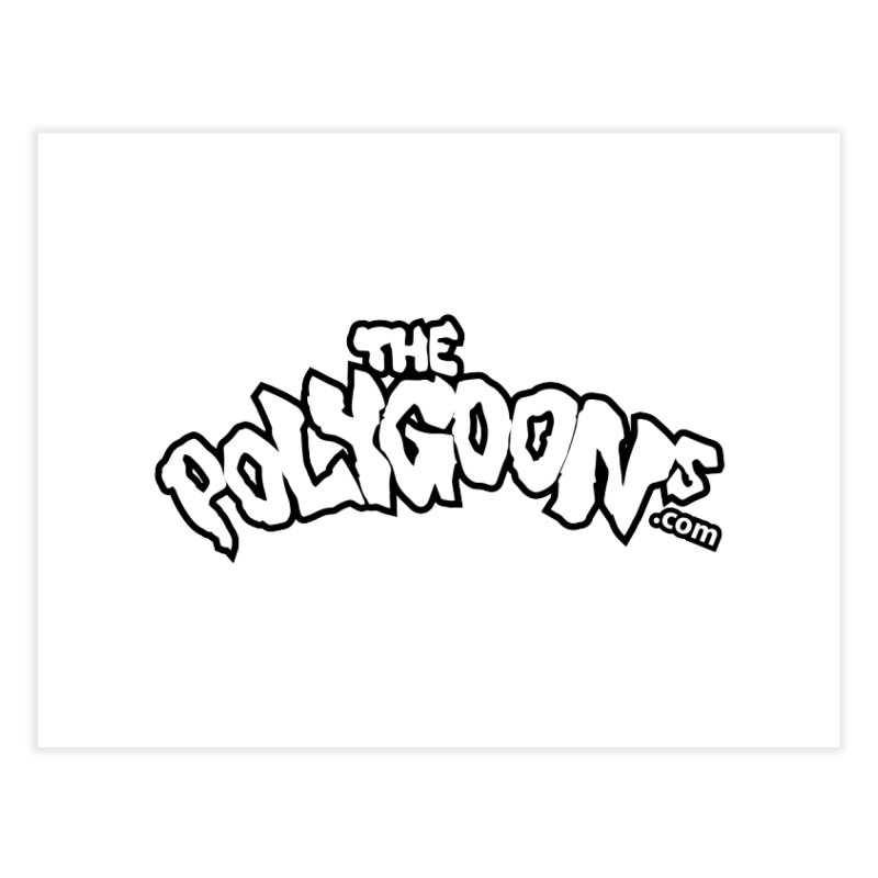 The Polygoons Logo BIG Home Fine Art Print by The Polygoons' Shop