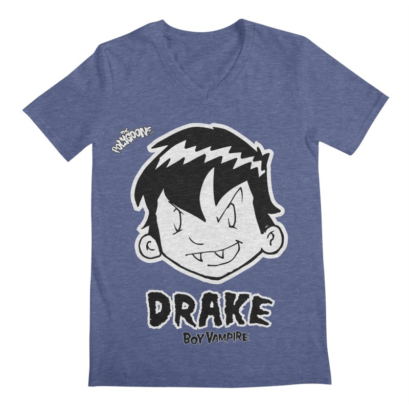 Drake - Boy Vampire  Men's Regular V-Neck by The Polygoons' Shop